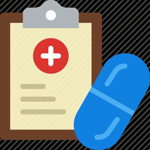 cure, doctor, file, medical, medicine, pharmacy, prescription icon