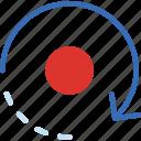 arrow, direction, location, orbit, orientation icon