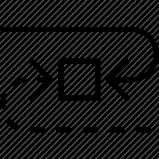arrow, cycle, direction, location, orientation icon