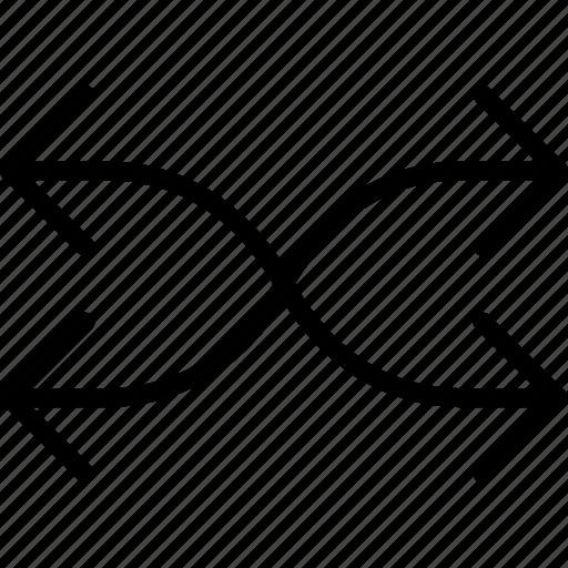 arrow, direction, location, orientation, shuffle icon