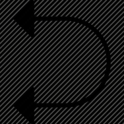 arrow, cycle, direction, left, location, orientation icon