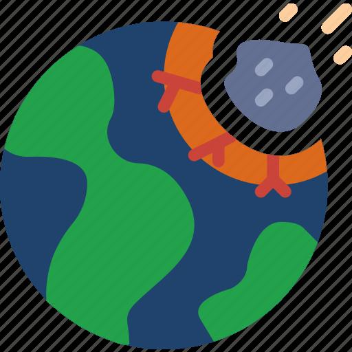 exploration, impact, meteorite, nasa, rocket, space, universe icon