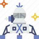exploration, lander, nasa, rocket, space, universe icon