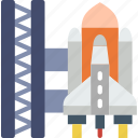exploration, launch, nasa, rocket, site, space, universe icon