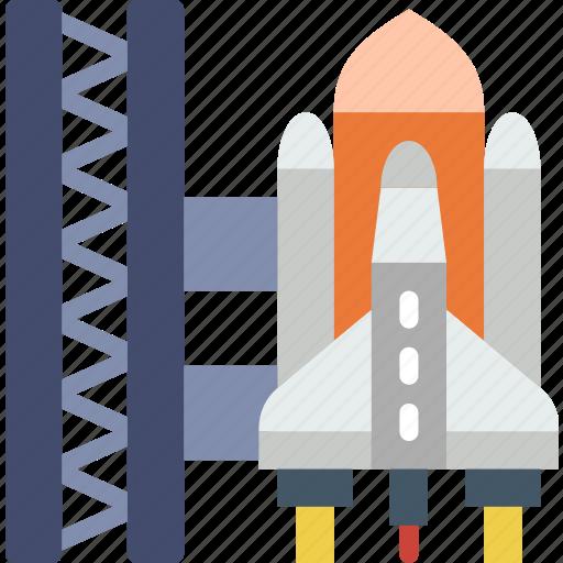 exploration, launch, nasa, rocket, site, space, universe icon