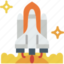 exploration, launch, nasa, rocket, space, universe icon