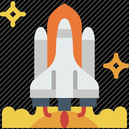 exploration, launch, nasa, rocket, space, universe icon