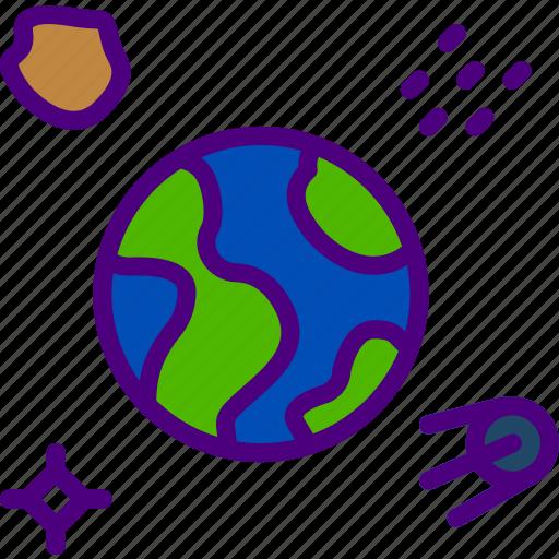 earth, exploration, nasa, rocket, space, universe icon