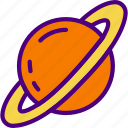 exploration, nasa, rocket, saturn, space, universe icon