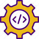 code, internet, seo, settings, web icon