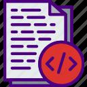 article, code, coding, internet, seo, web icon