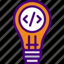 code, coding, idea, internet, seo, web icon