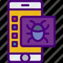 bug, code, internet, mobile, seo, web icon