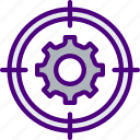 code, internet, seo, settings, target, web icon