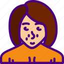 avatar, character, naked, person, user, woman icon