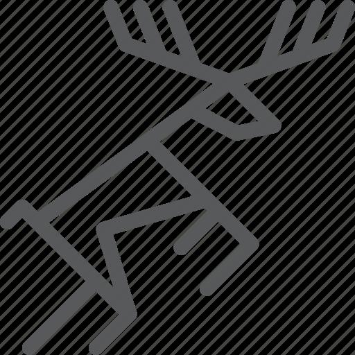 ancient, animal, art, cave, deer, prehistoric, primitive, sign icon