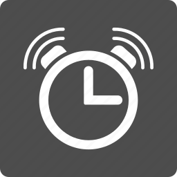 alarm clock, alert, bell ring, emergency, schedule, signal, time icon