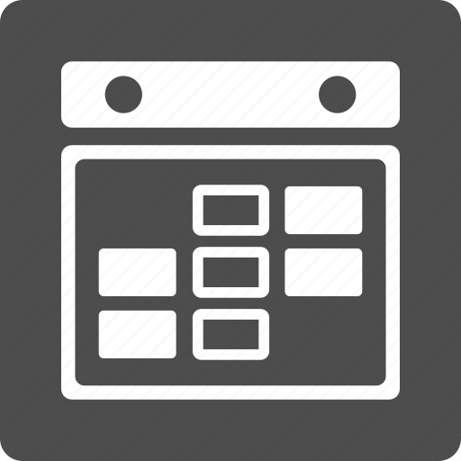 appointment, calendar grid, plan, rectangular cells, schedule, time table, week icon