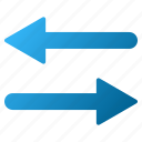 arrows, exchange, flip, flipping, horizontal, mirror, swap icon