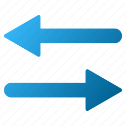 arrows, exchange, flip, flipping, horizontal, mirror, swap icon