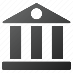 bank building, banking, business, corporation, financial center, library, museum icon