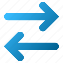 exchange, flip arrow, flipping, horizontal, replace, swap, sync icon