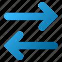 exchange, flip arrow, flipping, horizontal, replace, swap, sync