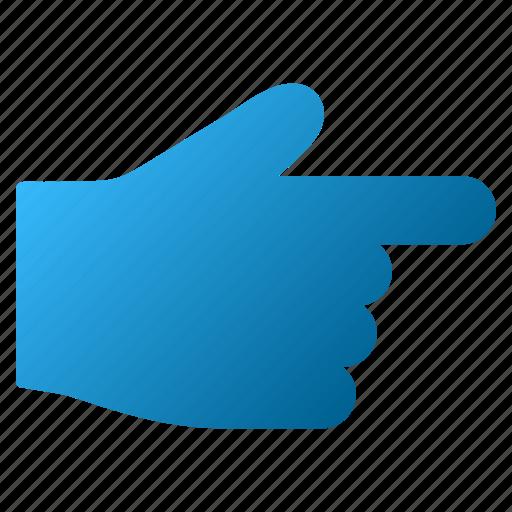cursor, hand, index finger, move, next, right, send icon