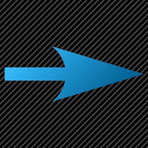 cursor, move, next, pointing arrow, right, send, sharp arrowhead icon