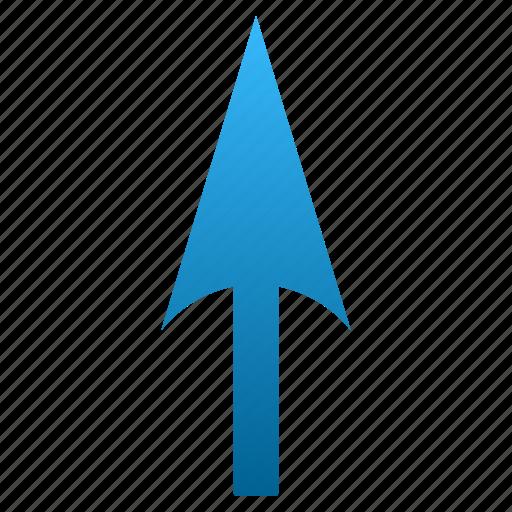 cursor, move, pointer, pointing arrow, send, sharp arrowhead, up icon