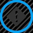 error, alarm, alert, attention, beware, caution, danger