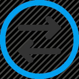 exchange, flip, flipping, horizontal, replace, swap, sync icon