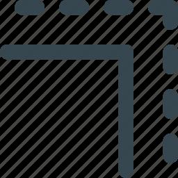 adjustment, arrangement, gutter, paper, printing icon