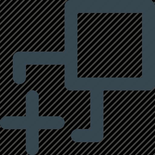 arrange, option, pattern, print, tiling icon