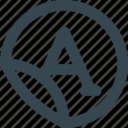 brand, logo, printing, round, stickers icon