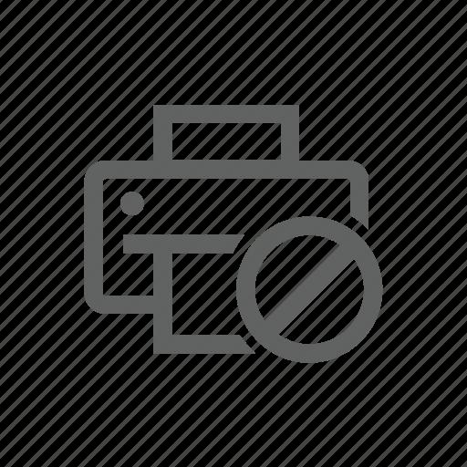 block, error, printer, warning icon