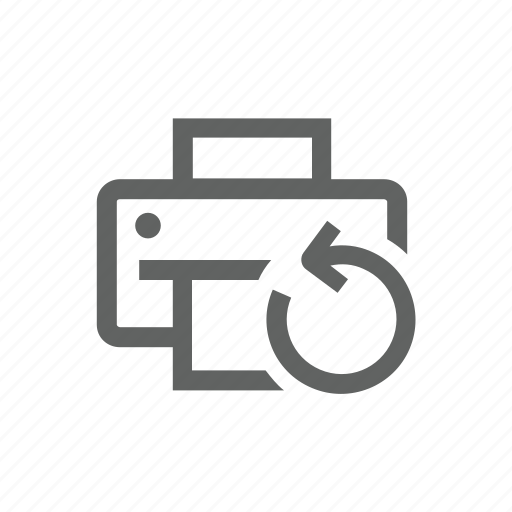 printer, sync, synchronize, update icon