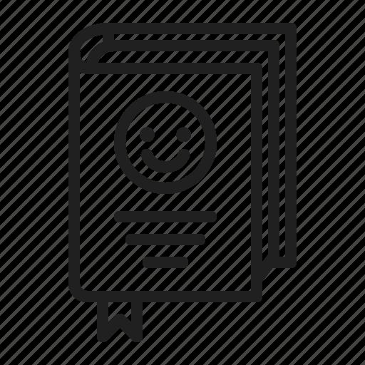 book, bookmark, typography icon