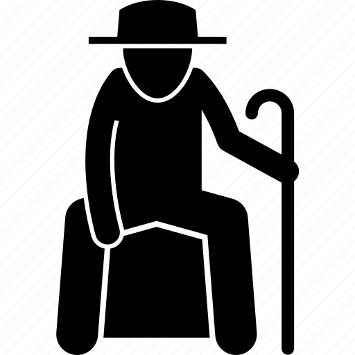 elderly, man, old, people, priority, seat, senior citizen icon
