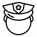 thin, prison, guard, yul902, vector icon