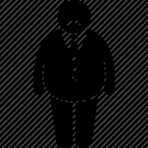 fat, jail, man, warden icon