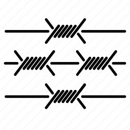 barb, barbed, fence, grid, prison, sharp, wire icon