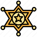 star, sheriff, protection, miscellaneous, law, badge