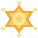 law, star, protection, badge, miscellaneous, sheriff