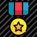 prize, achievement, reward, circle, star, award, medal icon
