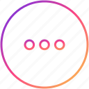 detail, details, dots, more, preferences, setting, settings icon