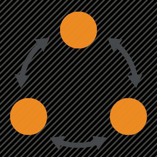 diagram, flow, procedure, process icon