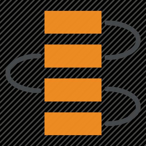 flow, flowchart, procedure, process, step, workflow icon