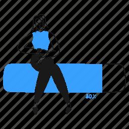loading, product, man, progress, bar, wait, woman