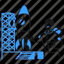 lets, start, product, rocket, shuttle, up, platform icon